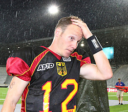 10.07.2011, Tivoli Stadion, Innsbruck, AUT, American Football WM 2011, Group A, Germany (GER) vs United States of America (USA), im Bild Joachim Ullrich (Germany, #12, QB) after the loss against USA // during the American Football World Championship 2011 Group A game, Germany vs USA, at Tivoli Stadion, Innsbruck, 2011-07-10, EXPA Pictures © 2011, PhotoCredit: EXPA/ T. Haumer