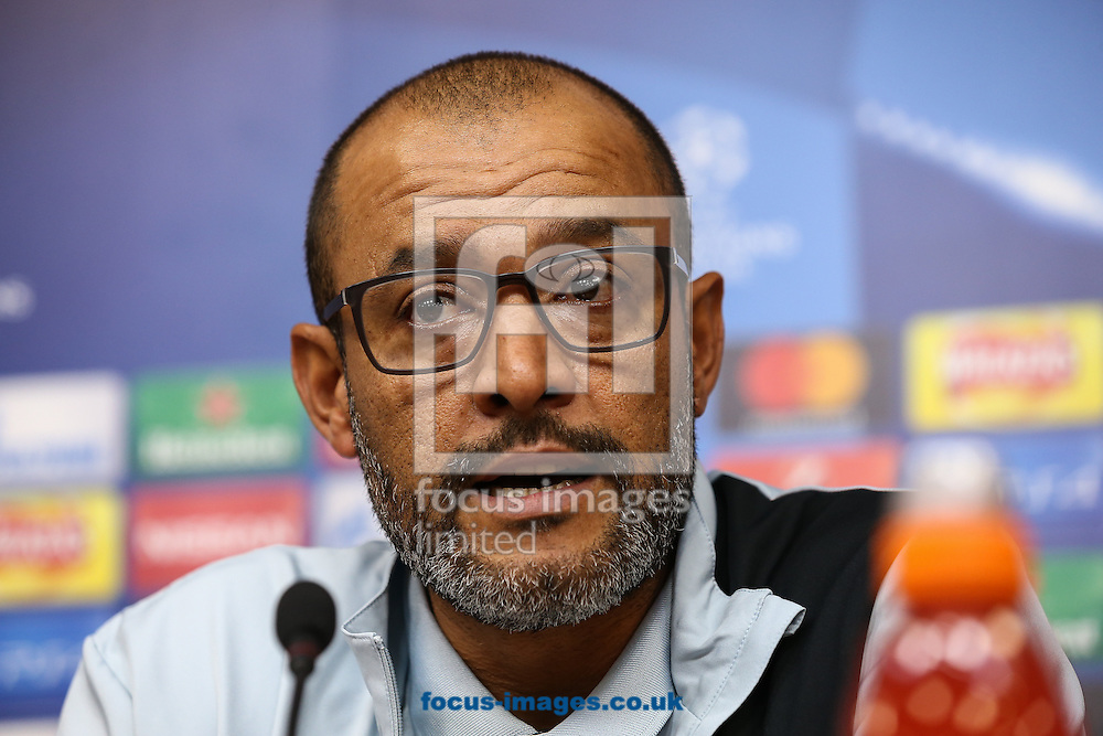 FC Porto manager Nuno Espirito Santo during the FC Porto press conference at the King Power Stadium, Leicester<br /> Picture by Andy Kearns/Focus Images Ltd 0781 864 4264<br /> 26/09/2016