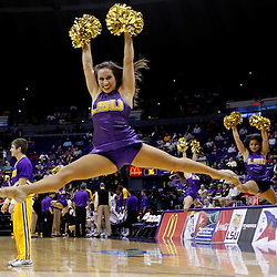 December 15, 2011; Baton Rouge, LA;The LSU Tigers tiger girls perform on the court during the first half of a game against the UC Irvine Anteaters at the Pete Maravich Assembly Center. LSU defeated UC Irvine 66-59.  Mandatory Credit: Derick E. Hingle-US PRESSWIRE