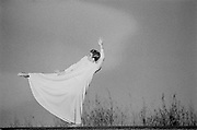 A Dancer Moves in a Big Dress