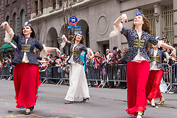 April 30, 2017 - New York, NY, United States - New York City's annual Persian Parade was held on Madison Avenue in Midtown Manhattan, featuring costumed dancers, musicians and marching units highlighting the cultural heritage of the Metro area's Persian-descendant communities from Iran and elsewhere. (Credit Image: © Albin Lohr-Jones/Pacific Press via ZUMA Wire)