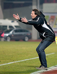 03.12.2011, Franz Fekete Stadion, Kapfenberg, AUT, 1. FBL, KSV 1919 Kapfenberg vs SK Rapid Wien, im Bild Aufregung bei Peter Schoettel (SK Rapid Wien, Headcoach), EXPA Pictures © 2011, PhotoCredit: EXPA/ Erwin Scheriau