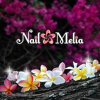 Logo design for Nail Melia in Tokyo, Japan.