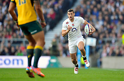 Jonny May of England goes on the attack - Photo mandatory by-line: Patrick Khachfe/JMP - Mobile: 07966 386802 29/11/2014 - SPORT - RUGBY UNION - London - Twickenham Stadium - England v Australia - QBE Internationals