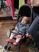 Anias, Meg Matthews's daughter. Shanghai Tang opening. Sloane St. 11 April 2001. © Copyright Photograph by Dafydd Jones 66 Stockwell Park Rd. London SW9 0DA Tel 020 7733 0108 www.dafjones.com