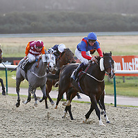 Blazeofenchantment and Adam Kirby winning the 1.35 race
