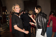 KAREN MULDER; YARA LAPIDUS; , Dinner for Sonia Falcone to celebrate her participation in 56th Venice Biennale she represented Bolivia at the Pavilion of the Instituto Italo-Latinoamericano at the Arsenale. Dinner at the Ridotto Ballroom, Hotel Monaco and Grand Canal, Venice, Venice Biennale, Venice. 8 May 2015