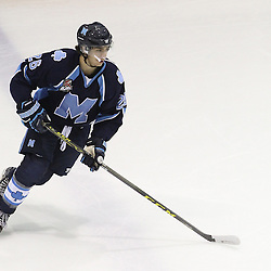 TORONTO, ON - SEP 11:  Jonah Alexander #26 of the St.Michael's Buzzers during the pregame warm-up. OJHL regular season game between the St.Michael's Buzzers and the Georgetown Raiders St.Michael's Buzzers and Georgetown Raiders  on September 11, 2016 in Toronto, Ontario. (Photo by Tim Bates / OJHL Images)