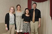 The four senior Cutler Scholars of 2014-2015, Kelsey Davis, Caitlyn John, Kara Frisina, and Devon Baum pose for a group portrait at the Senior Mentor Dinner on March 19, 2015. © Ohio University / Photo by Olivia Wallace