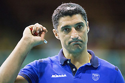 Andrea Giani, head coach of Slovenia during volleyball match between National Teams of Slovenia and Portugal in 3rd Round of 2015 CEV Volleyball Men European Championship Qualifications, on May 24, 2015 in Arena Tabor, Maribor, Slovenia. Photo by Vid Ponikvar / Sportida