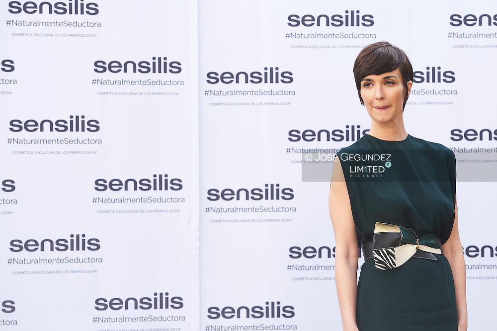 Paz Vega attends 'Sensilis' new image event at Palacio de Santa Barbara on February 5, 2016 in Madrid