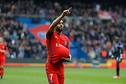 Lucas Rodrigues Moura da Silva (psg) scored a goal and celebrated it during the French championship Ligue 1 football match between Paris Saint-Germain (PSG) and Bastia on May 6, 2017 at Parc des Princes Stadium in Paris, France - Photo Stephane Allaman / ProSportsImages / DPPI