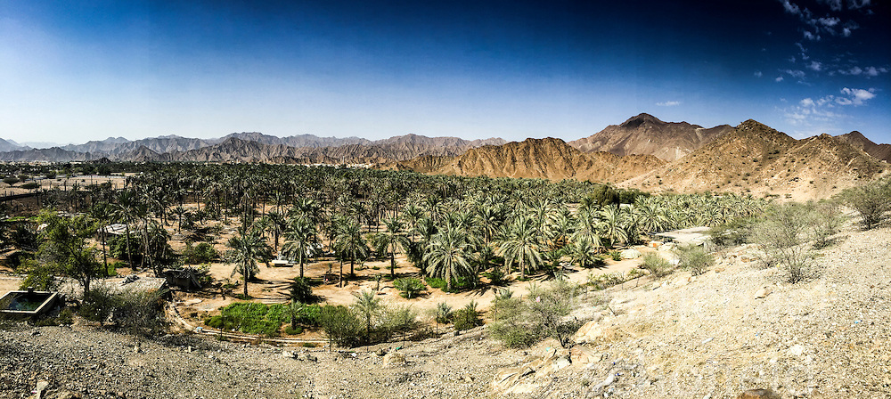 Street images from a panoramic photo from an iPhone6, Fujairah city tour, Khor Fakkan, looking from Bidya mosque. Images from the MSC Musica cruise to the Persian Gulf, visiting Abu Dhabi, Khor al Fakkan, Khasab, Muscat, and Dubai, traveling from 13/12/2015 to 20/12/2015.