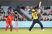 Grant Elliott of the Birmingham Bears during the Vitality T20 Blast North Group match between Lancashire Lightning and Birmingham Bears at the Emirates, Old Trafford, Manchester, United Kingdom on 10 August 2018.