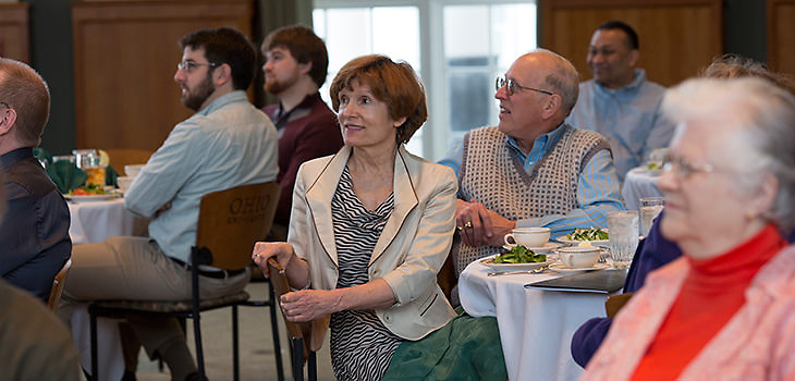 The Center for Avionics Engineering celebrated its 50th year with a luncheon on Friday, January 10, 2014 in the Walter Hall rotunda.