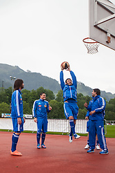 23.05.2012, Casino Stadion, Kitzbuehel, AUT, UEFA EURO 2012, Trainingscamp, Griechenland, Training, im Bild beim Basketballspielen Georgios Samaras, (GRE), Kyriakos Papadopoulos, (GRE), Vassilios Torosidis, (GRE)// during a trainings Session of Greece National Footballteam for preparation UEFA EURO 2012 at Casino Stadium, Kitzbuehel, Austria on 2012/05/23. EXPA Pictures © 2012, PhotoCredit: EXPA/ Juergen Feichter