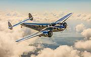 David Marco's Lockheed 12A Electra Junior photographed over Lakeland, Florida.