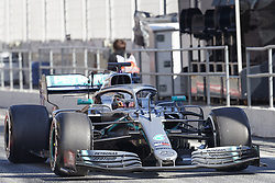 February 26, 2019 - Spain - Lewis Hamilton (Mercedes AMG Petronas Motosport) W10 car, seen in action during the winter testing days at the Circuit de Catalunya in Montmelo  (Credit Image: © Fernando Pidal/SOPA Images via ZUMA Wire)