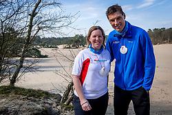 18-03-2018 NED: We hike to change diabetes, Soest<br /> Training voor de Camino 2018 op de Soesterduinen / Wanda en Bas