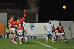 Bristol City's Aaron Wilbraham scores a goal. - Photo mandatory by-line: Dougie Allward/JMP - Mobile: 07966 386802 - 10/12/2014 - SPORT - Football - Bristol - Ashton Gate Stadium - Bristol City v Coventry City - Johnstone's Paint Trophy