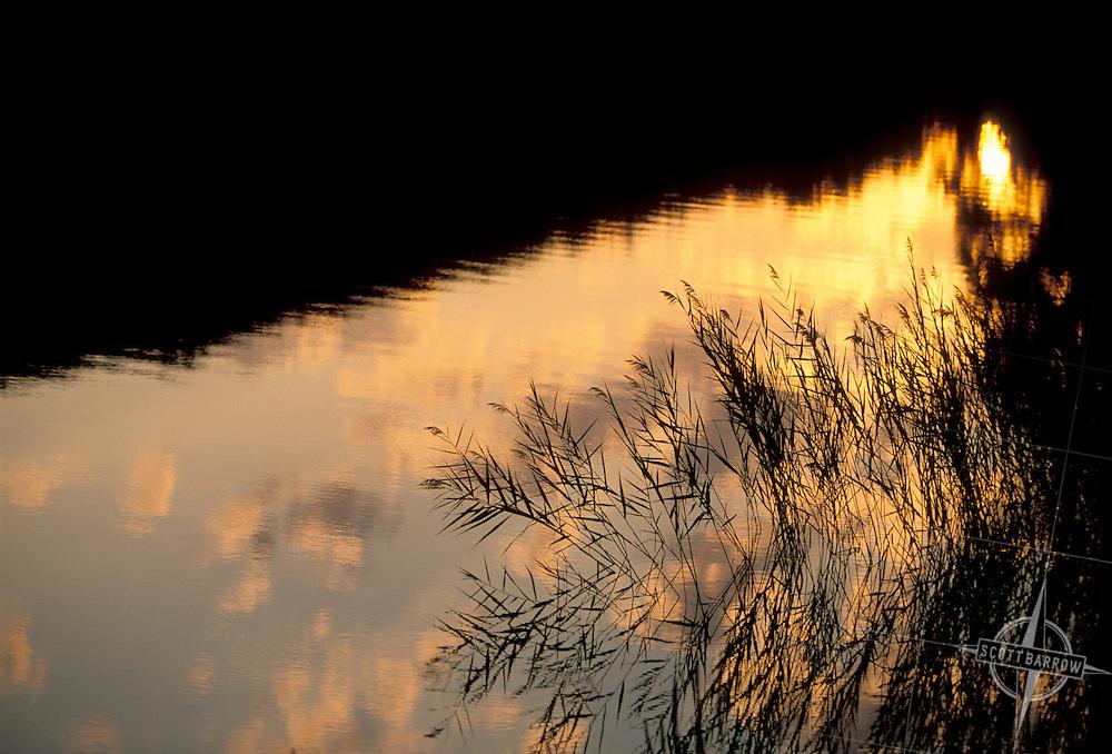 Reflection on sunset lake