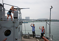 USS Pueblo (AGER-2) is an American ship which was captured by North Korea on January 23, 1968, in what is known as the Pueblo incidentduring the Cold War, it is now on the Taedong River in Pyongyang and is a must see for every tourist.<br /> -Mr Eric, you speak too much to this American tourist...<br /> -What&rsquo;s the problem?<br /> -We think she is a fox.<br /> -A fox?<br /> -A spy.