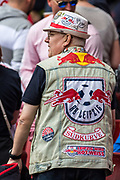 Red Bull fan during the Emirates Cup 2017 match between Leipzig and Benfica at the Emirates Stadium, London, England on 30 July 2017. Photo by Sebastian Frej.