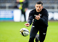 Shaun Venter of Ospreys during the pre match warm up<br /> <br /> Photographer Simon King/Replay Images<br /> <br /> Guinness PRO14 Round 6 - Ospreys v Southern Kings - Saturday 9th November 2019 - Liberty Stadium - Swansea<br /> <br /> World Copyright © Replay Images . All rights reserved. info@replayimages.co.uk - http://replayimages.co.uk