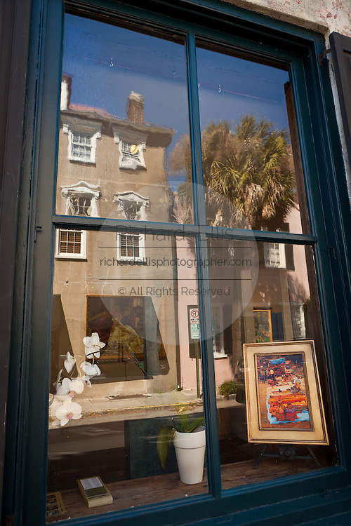 Art Gallery along historic Queen Street in Charleston, SC.