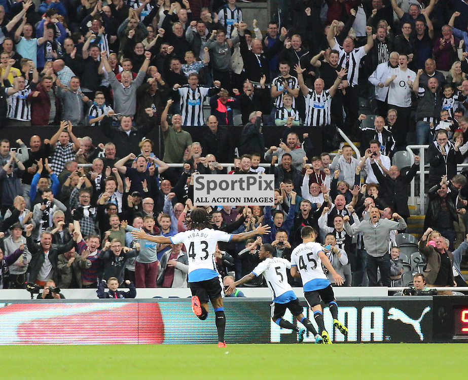 Newcastle United v Chelsea English Premiership 26 September 2015; Newcastle players celebrate their second goal during the Newcastle v Chelsea English Premiership match played at St. James' Park, Newcastle; <br /> <br /> &copy; Chris McCluskie | SportPix.org.uk