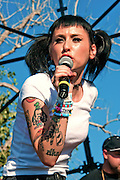 Kreayshawn performing at Fun Fun Fun Fest, Austin, Texas, November3, 2012.  Natassia Gail Zolot (born September 24, 1989),[1] better known by her stage name Kreayshawn, is an American rap recording artist and music video director.