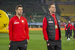 March 21, 2019 - Vienna, Austria - Grzegorz Krychowiak and Maciej Szczesny of Poland pictured during the UEFA European Qualifiers 2020 match between Austria and Poland at Ernst Happel Stadium in Vienna, Austria on March 21, 2019  (Credit Image: © Andrew Surma/NurPhoto via ZUMA Press)
