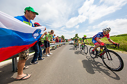 The fans and Jon Bozic of Adria Mobil Cycling Team during 1st Stage of 25th Tour de Slovenie 2018 cycling race between Lendava and Murska Sobota (159 km), on June 13, 2018 in  Slovenia. Photo by Vid Ponikvar / Sportida