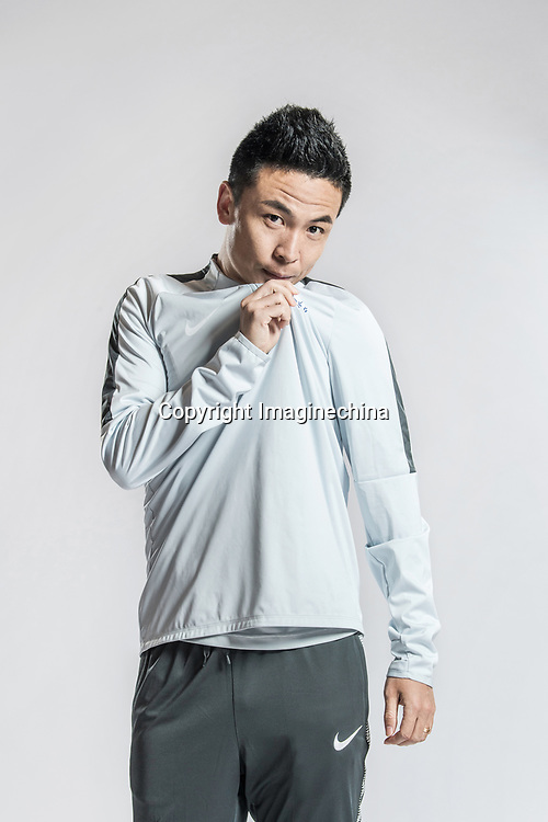 **EXCLUSIVE**Portrait of Chinese soccer player Han Xu of Dalian Yifang F.C. for the 2018 Chinese Football Association Super League, in Foshan city, south China's Guangdong province, 11 February 2018.