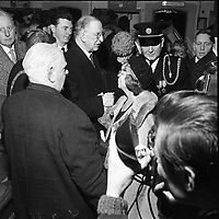 Eamon De Valera at an event for the 1916 Commemorations in 1966. (Part of the Independent Newspapers Ireland/NLI Collection)