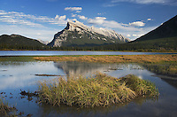 Mount Rundle seen from Vermilion Lakes, Banff National Park