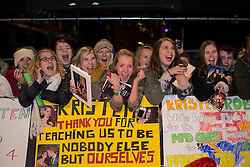 © licensed to London News Pictures. London, UK 14/11/2012. Twilight Saga fans waiting at the UK premiere of the The Twilight Saga: Breaking Dawn Part Two in Leicester Square, London. Photo credit: Tolga Akmen/LNP