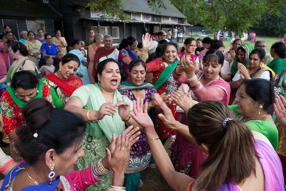 Teeyan Festival, Norwood Green / Southall, Greater London, UK, August 8, 2015.<br />