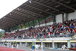 Spectators at 9th round of of Slovenian Football First League  between NK Interblock vs NK Maribor, on September 20, 2008, in ZAK stadium in Ljubljana. Maribor won the match 2:1. (Photo by Vid Ponikvar / Sportal Images)