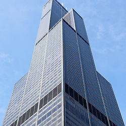 Willis Tower (formerly Sears Tower) in Chicago. Willis Tower is the tallest building in Chicago and is one of the tallest skyscrapers in the world.