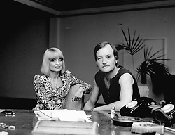 BARBARA HULANICKI and her husband STEPHEN FITZSIMON in August 1973.