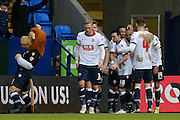 Bolton Wanderers celebrate Bolton Wanderers midfielder Darren Pratley  goal during the Sky Bet Championship match between Bolton Wanderers and Milton Keynes Dons at the Macron Stadium, Bolton, England on 23 January 2016. Photo by Simon Davies.