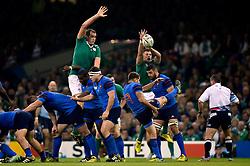 Sebastien Tillous-Borde of France box-kicks the ball - Mandatory byline: Patrick Khachfe/JMP - 07966 386802 - 11/10/2015 - RUGBY UNION - Millennium Stadium - Cardiff, Wales - France v Ireland - Rugby World Cup 2015 Pool D.