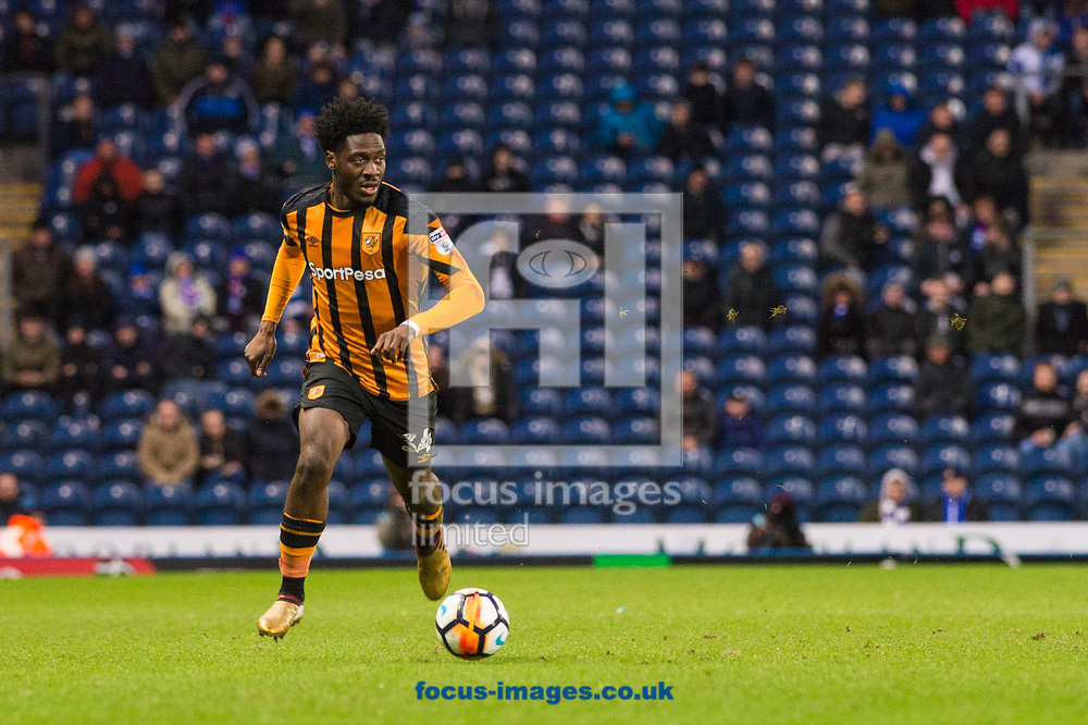 Ola Aina of Hull City looks for an option during the FA Cup match at Ewood Park, Blackburn<br /> Picture by Matt Wilkinson/Focus Images Ltd 07814 960751<br /> 06/01/2018