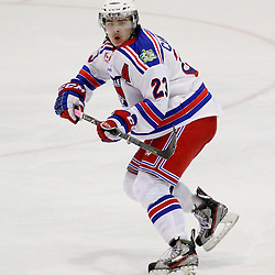 Oakville, ON  - Feb 1 : Ontario Junior Hockey League game action between the Oakville Blades vs Aurora Tigers. Greg Campbell #23 of the Oakville Blades Hockey Club. <br /> (Photo by Kevin Sousa / OJHL Images)