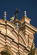 08.07.2008 Huelva architektura.Fot  Piotr Gesicki/Forum stork on church tower in Huelva city in south western Andalucia Spain Photo Piotr Gesicki