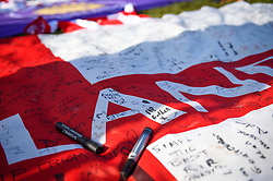 February 23, 2019 - Stoke On Trent, England, United Kingdom - Messages in memory of former Stoke goalkeeper Gordon Banks OBE during the Sky Bet Championship match between Stoke City and Aston Villa at the Britannia Stadium, Stoke-on-Trent on Saturday 23rd February 2019. (Credit Image: © Mi News/NurPhoto via ZUMA Press)