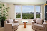 Living Room at 160 Central Park South
