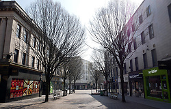 A deserted Albert Street in Nottingham City Centre as the UK continues in lockdown to help curb the spread of the coronavirus.