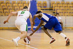 Corey D. Allen Jr. of KK Sentjur during basketball match between KK Petrol Olimpija and KK Sentjur in Playoffs of Liga Nova KBM 2017/18, on April 18, 2018 in Tivoli sports hall, Ljubljana, Slovenia. Photo by Urban Urbanc / Sportida